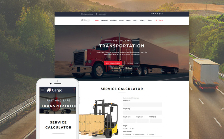 Cargo - Multipurpose Transportation Website Template New Screenshots BIG