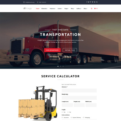 Top 50 html transportation website templates 2018.
