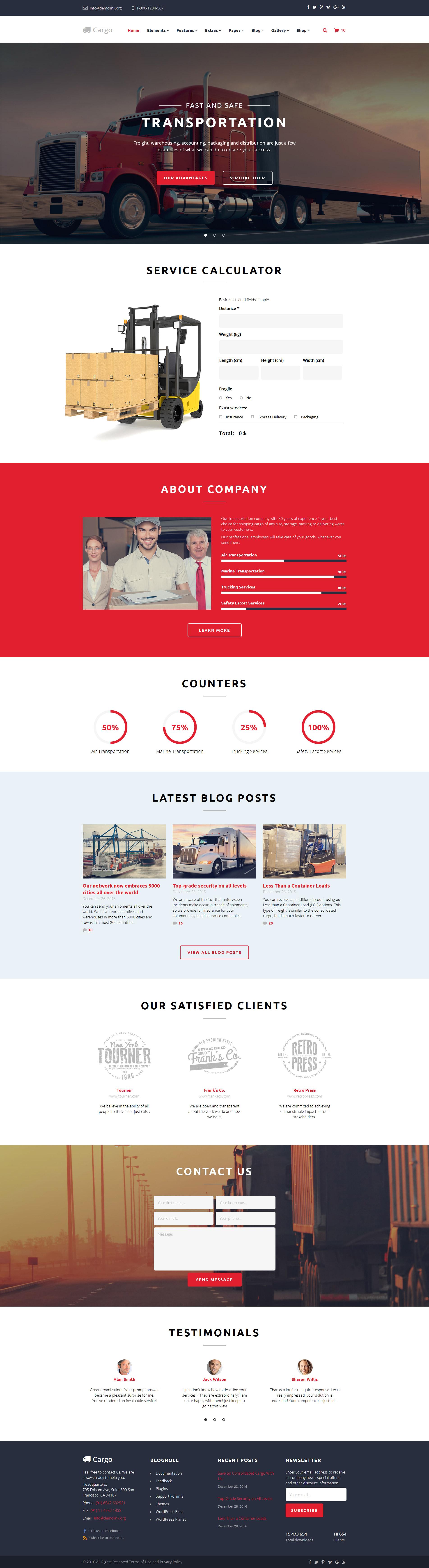 """""""Cargo"""" Responsive Website template №58899"""