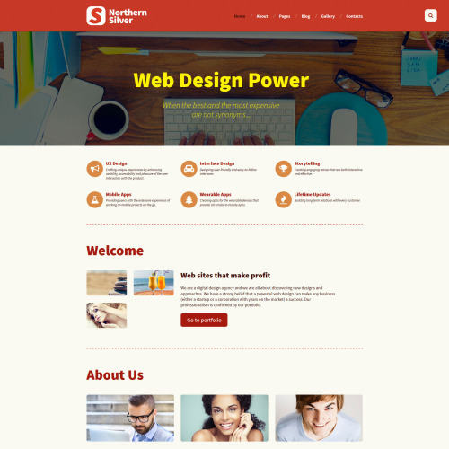 Northern Silver  - Joomla! Template based on Bootstrap