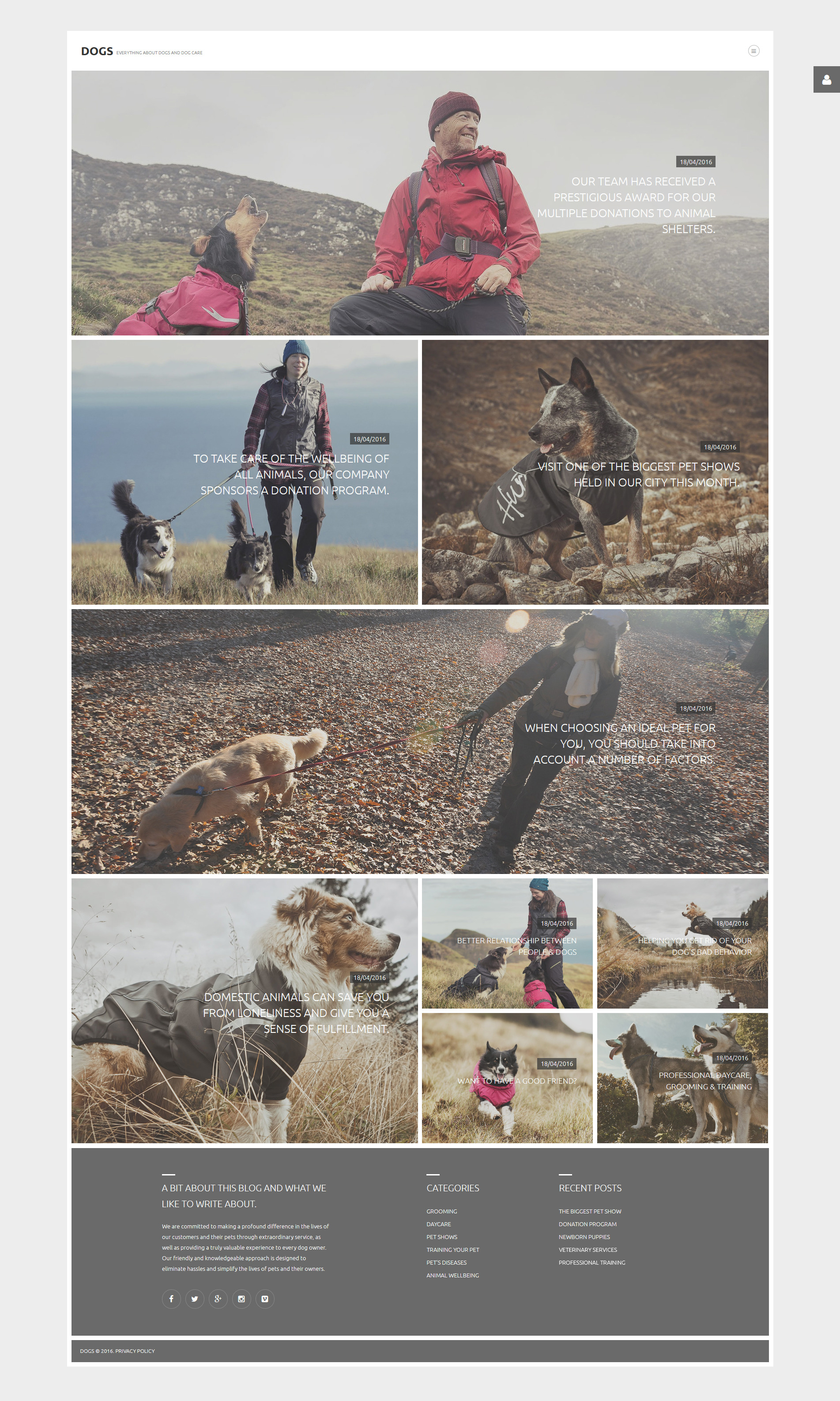 Dogs Joomla Template - screenshot