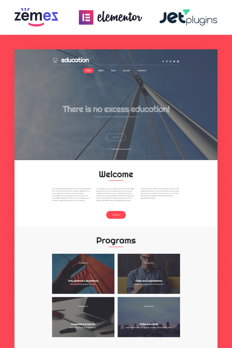 Education Hub WordPress Theme