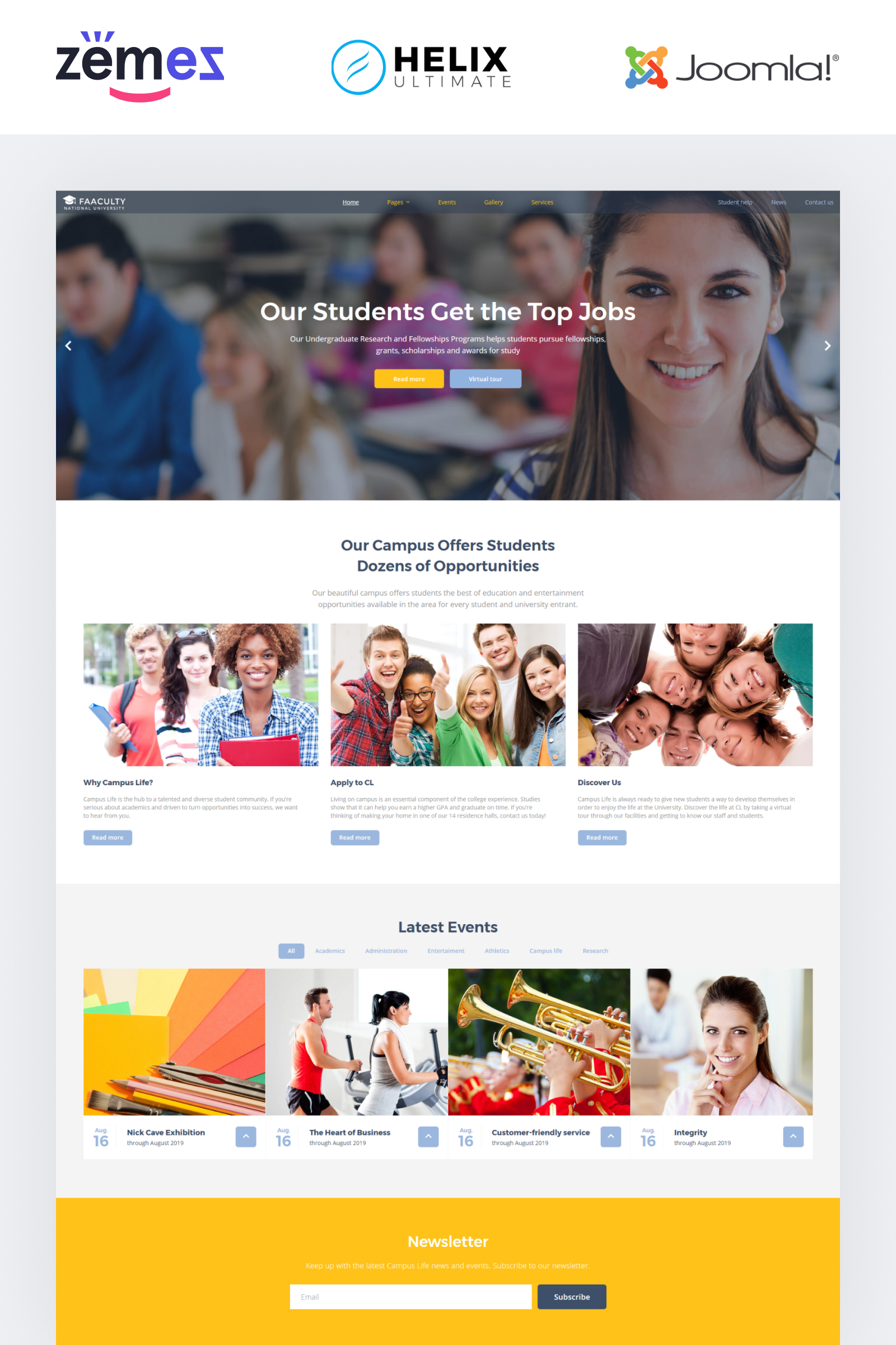 Faaculty - University Multipage Modern Template Joomla №58870