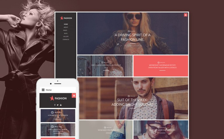 Fashion Joomla Template New Screenshots BIG