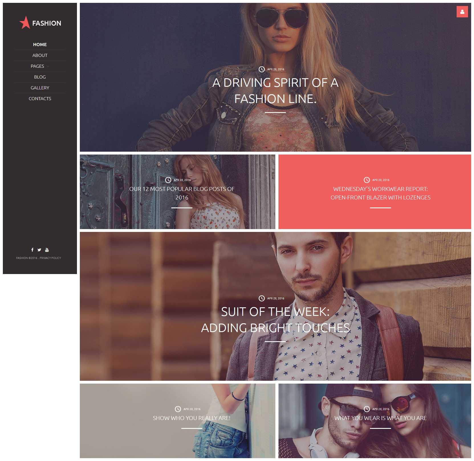 Fashion Joomla Template - screenshot