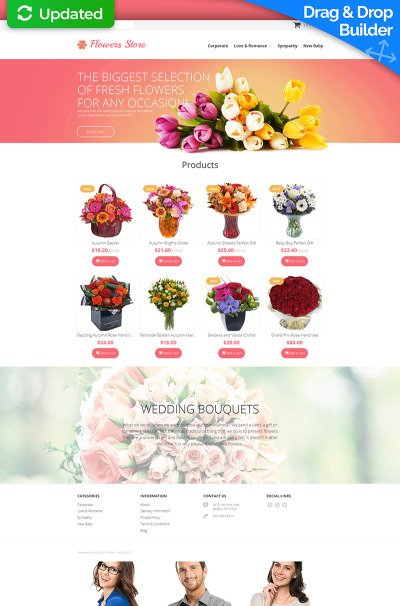 Flowers Bootstrap Themes | TemplateMonster | title | flowers web