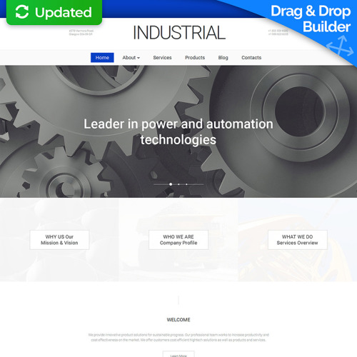 Industrial - MotoCMS 3 Template based on Bootstrap