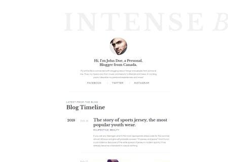 Personal Blog Responsive