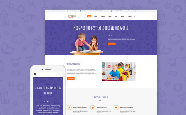 Intense Child Care Website Template New Screenshots BIG