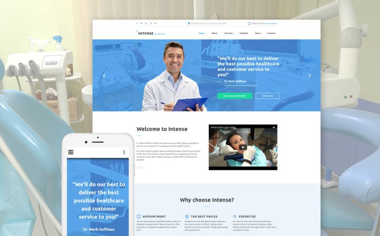 Intense Dental Clinic Website Template New Screenshots BIG