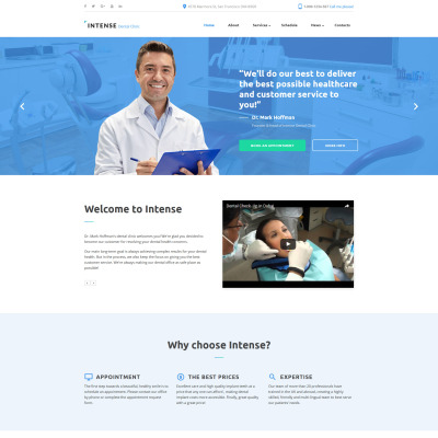 Best Dentistry Website Templates - Dentist website template
