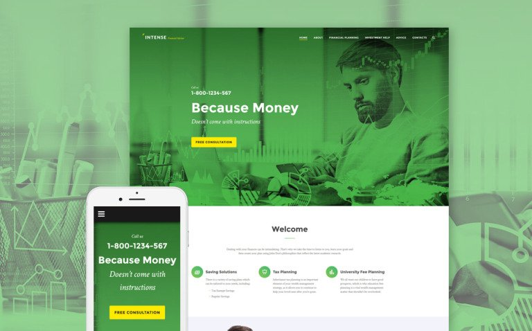 Intense Financial Advisor Website Template New Screenshots BIG