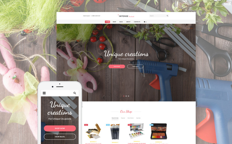 Intense Handmade Website Template New Screenshots BIG