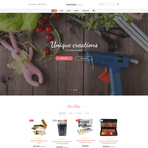 Intense Handmade - Website Template based on Bootstrap