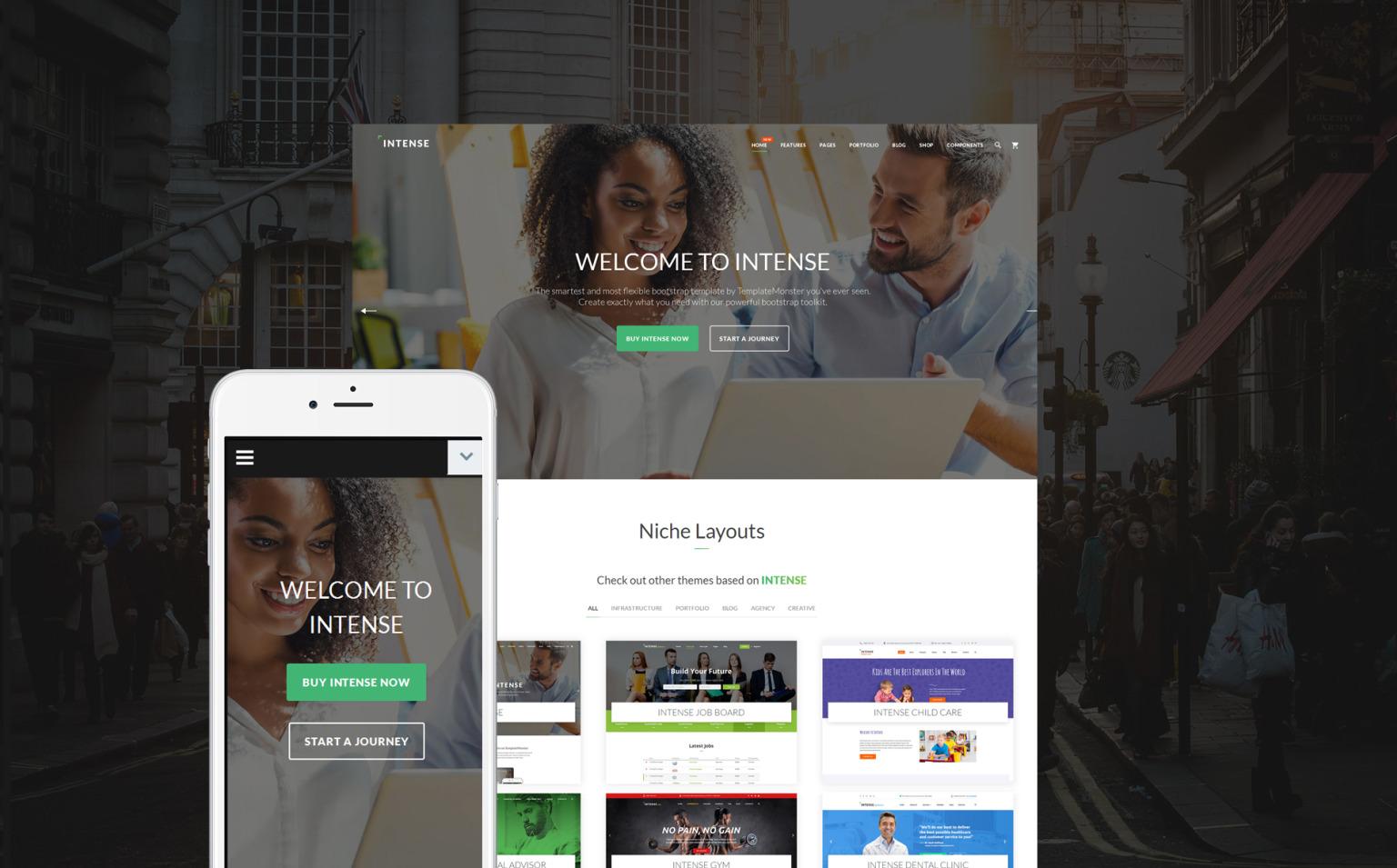 Intense Multipurpose Website Template Big Screenshot