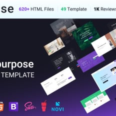 Html templates html web templates template monster intense multipurpose maxwellsz