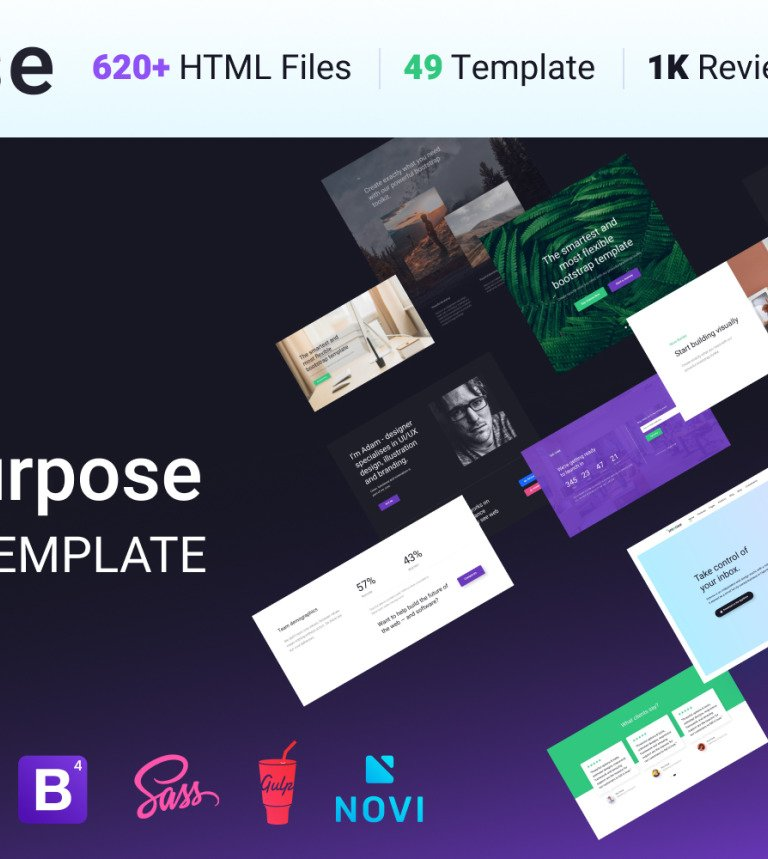 Intense Multipurpose Website Template - Html site template