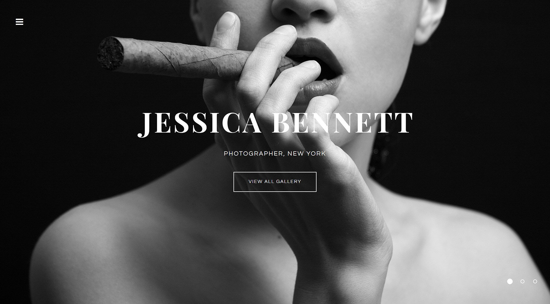 INTENSE Photographer Portfolio Website Template - screenshot