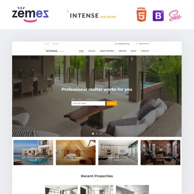 Html flash templates for Home design websites