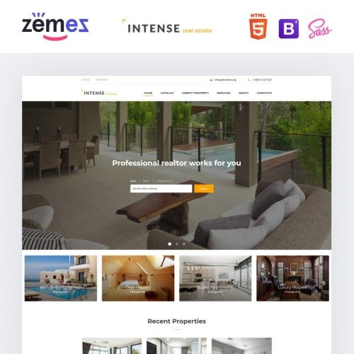 INTENSE Real Estate - Website Template based on Bootstrap