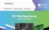 """Intense"" Responsive Website template"