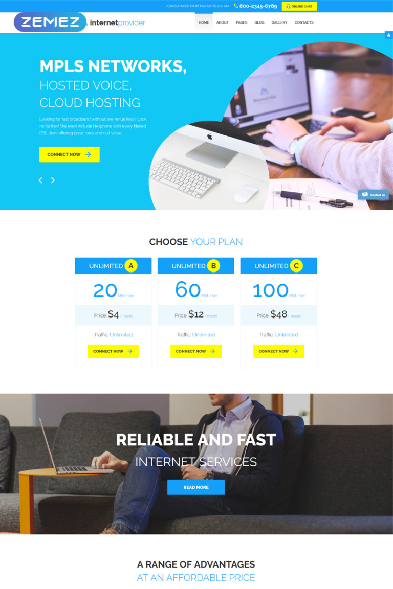 Internet Provider Joomla Template New Screenshots BIG