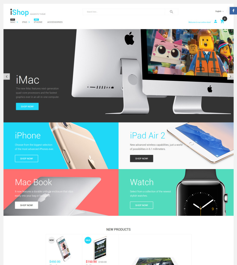 iShop - Electronic Devices Magento Theme