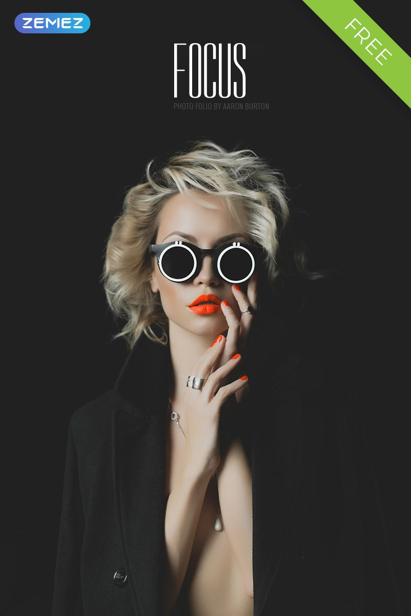 "Joomla Vorlage namens ""Focus - Photographer Portfolio Free Stylish"" #58869"