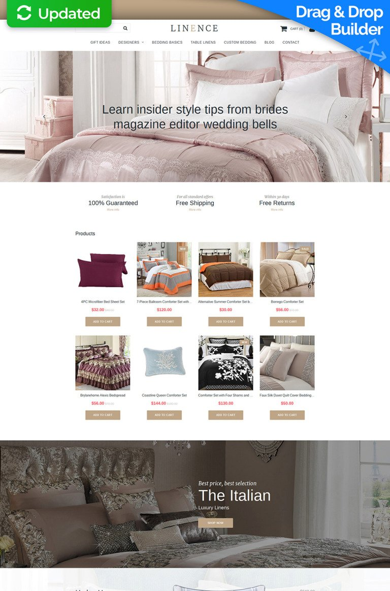 Linen & Lace Responsive MotoCMS Ecommerce Template New Screenshots BIG
