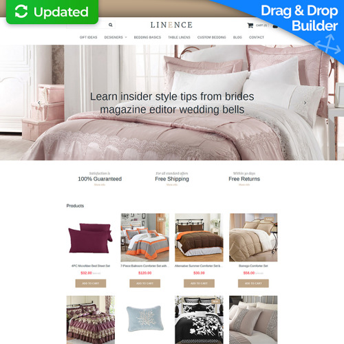Linence - MotoCMS Ecommerce Template based on Bootstrap