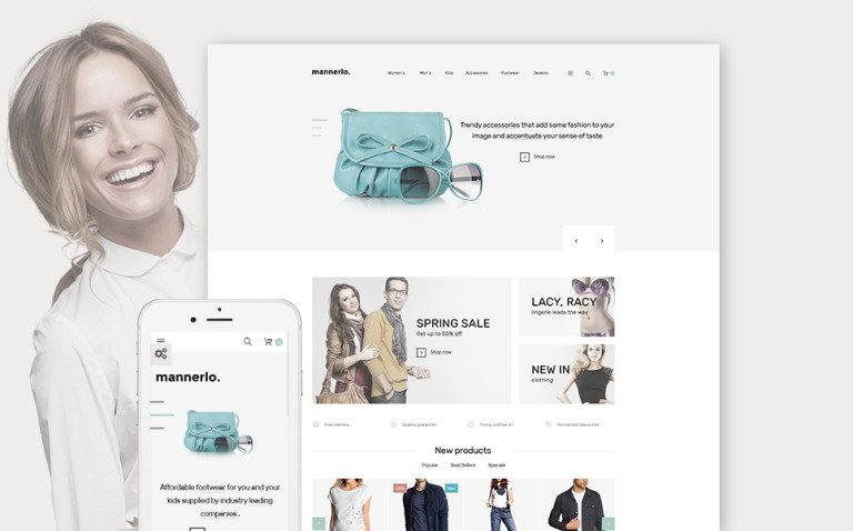 Mannerlo - Apparel Responsive PrestaShop Theme New Screenshots BIG
