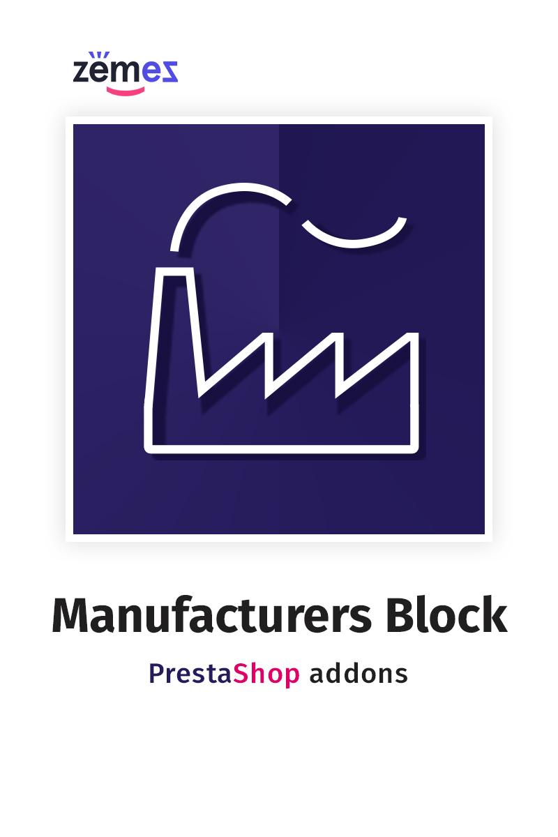 Manufacturers Block PrestaShop Module - screenshot