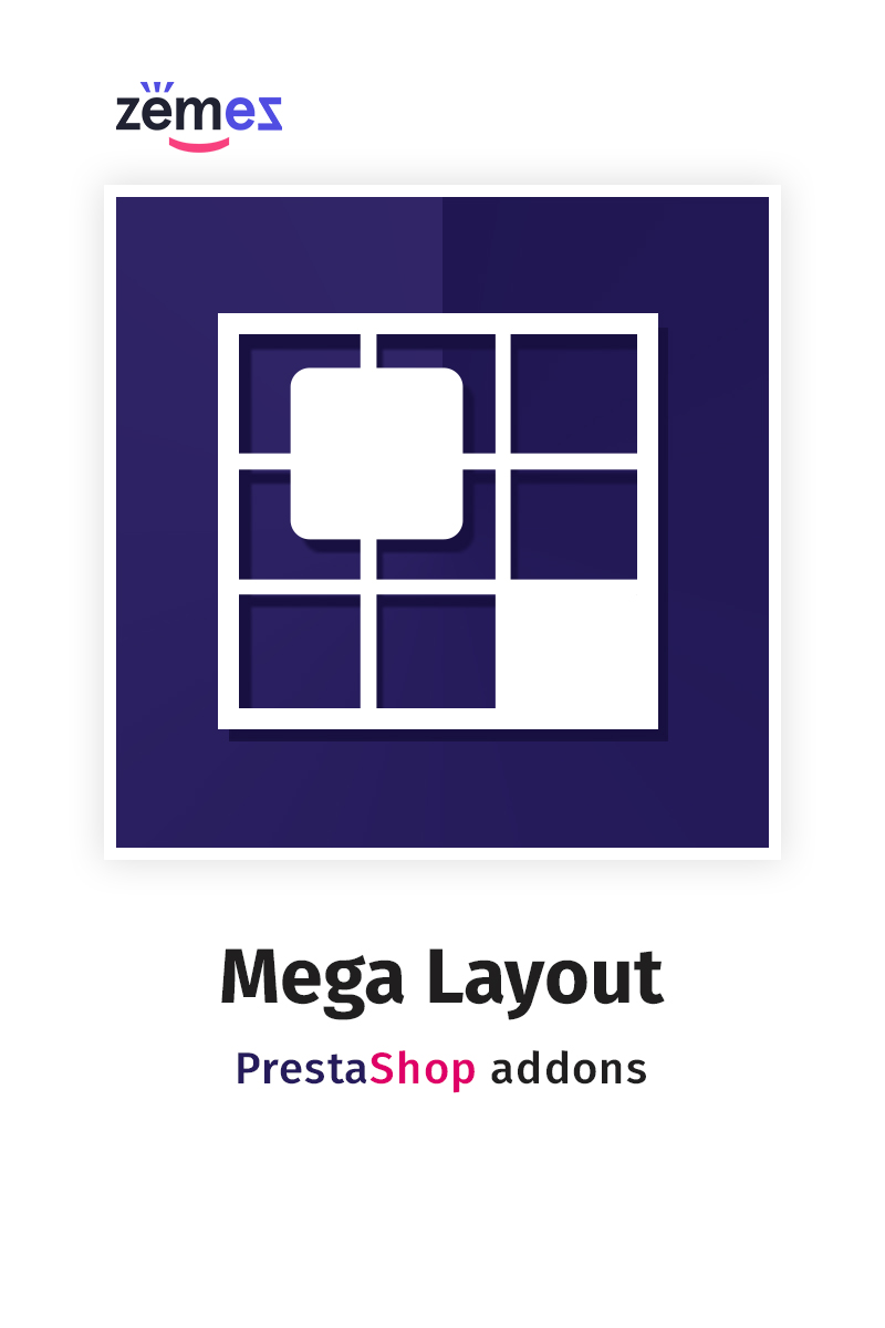 Mega Layout PrestaShop Module - screenshot