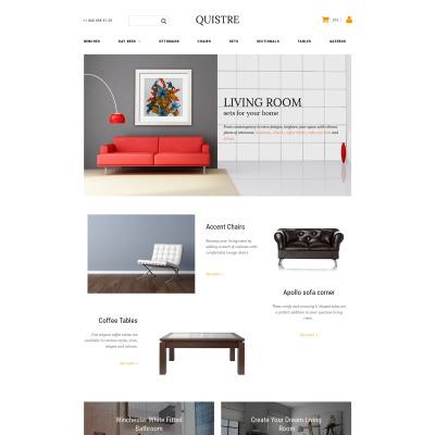 Modèle MotoCMS Pour Commerce électronique adaptatif  pour site de meubles