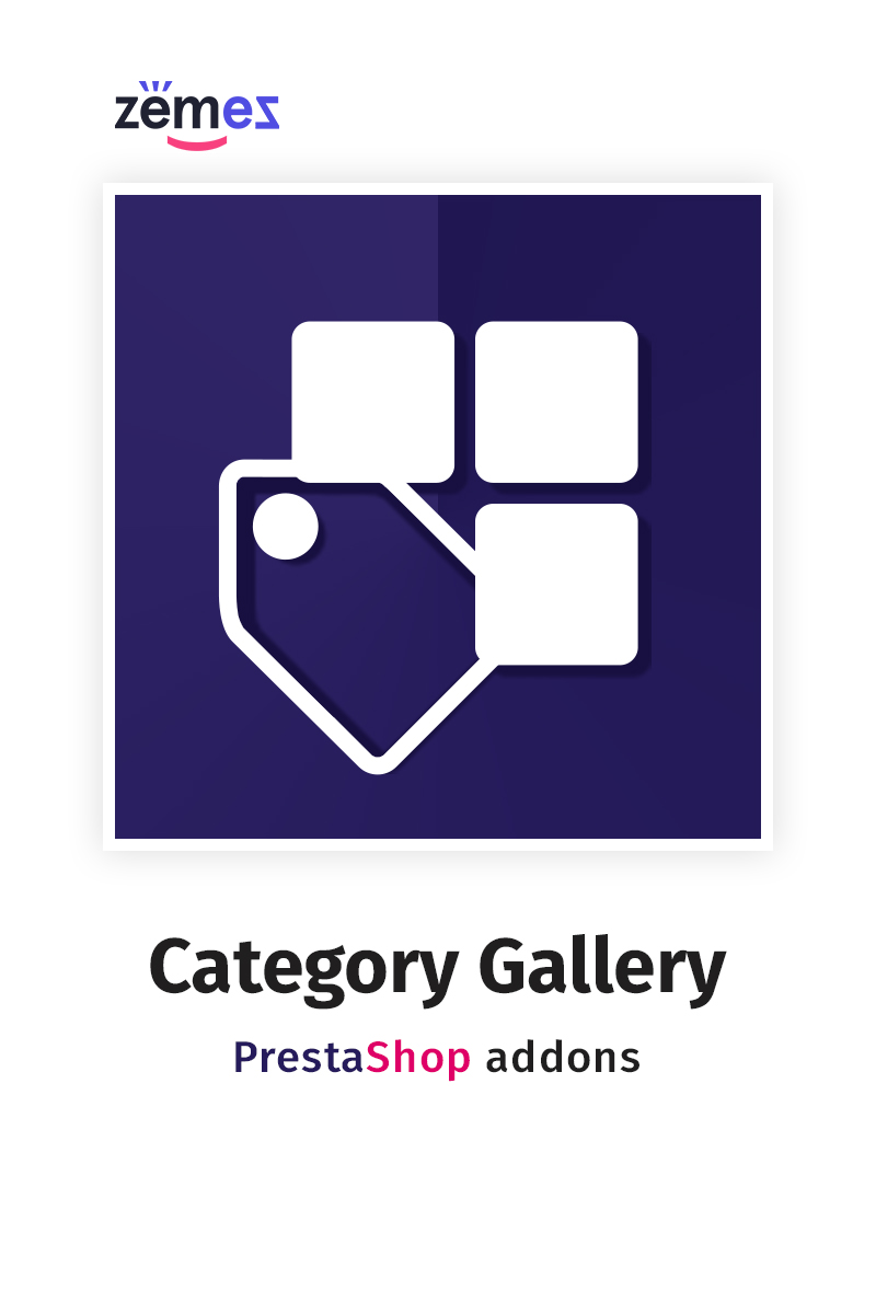 "Modello Modulo PrestaShop #58829 ""Homepage Category Gallery"""