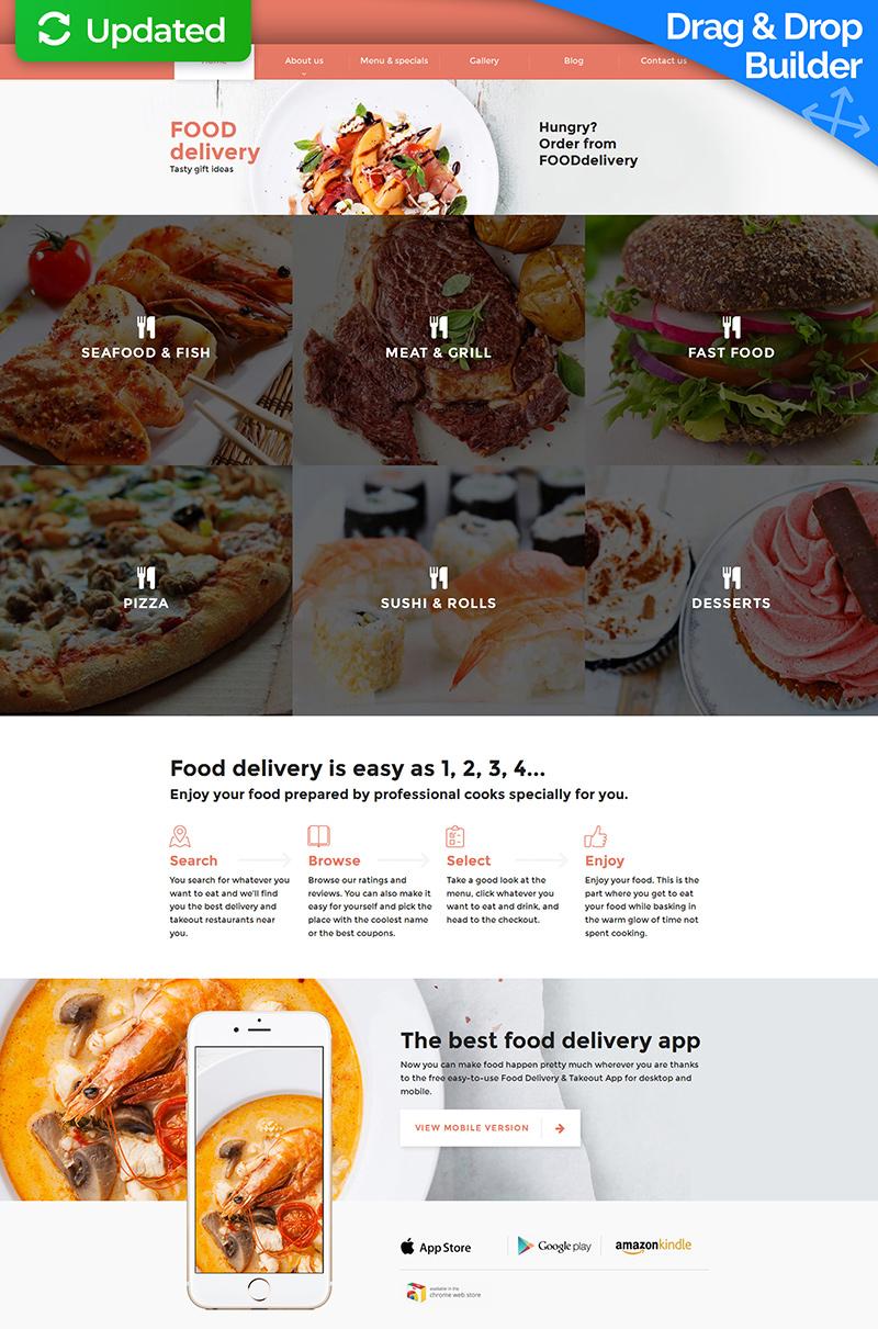 MotoCMS 3 шаблон на тему громадське харчування №58839