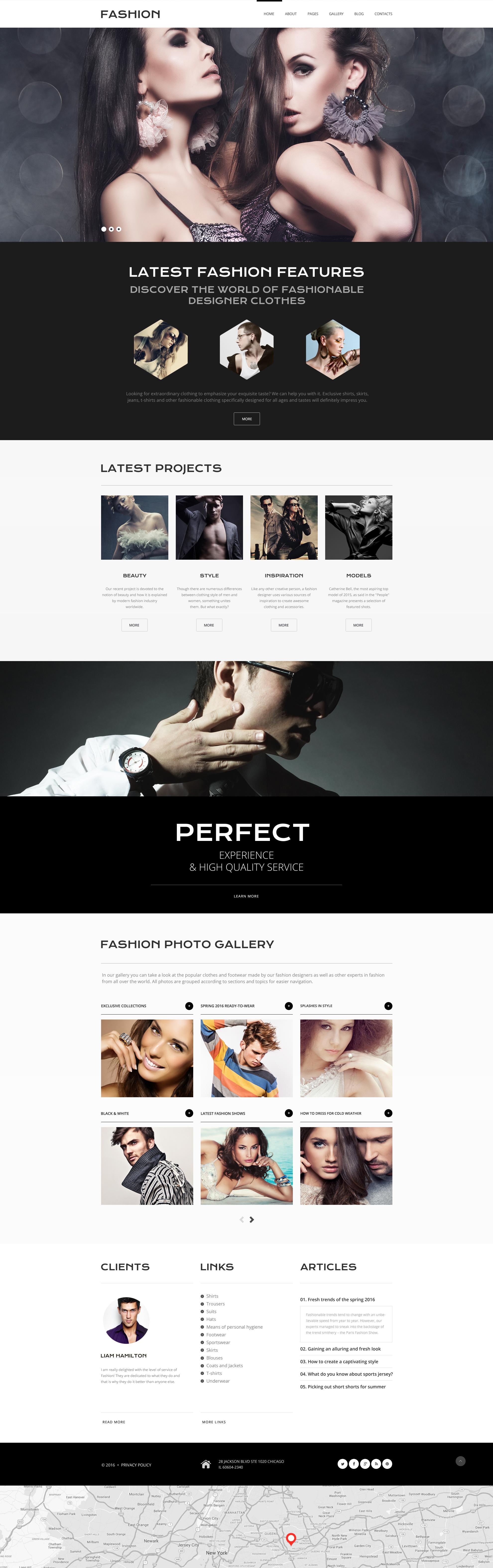 Online Fashion Joomla Template - screenshot