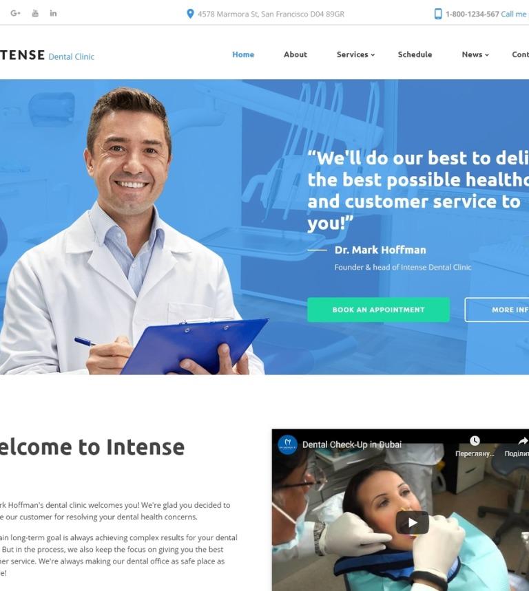 Plantilla Web #58880 para Sitio de Odontología