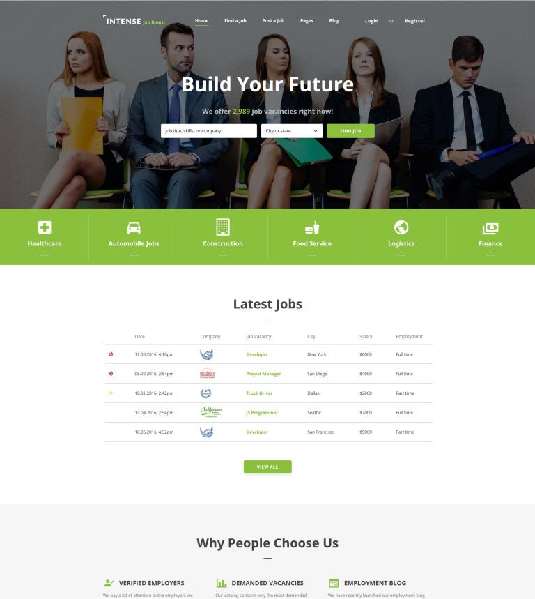Plantilla Web #58884 para Sitio de Portal de Empleo