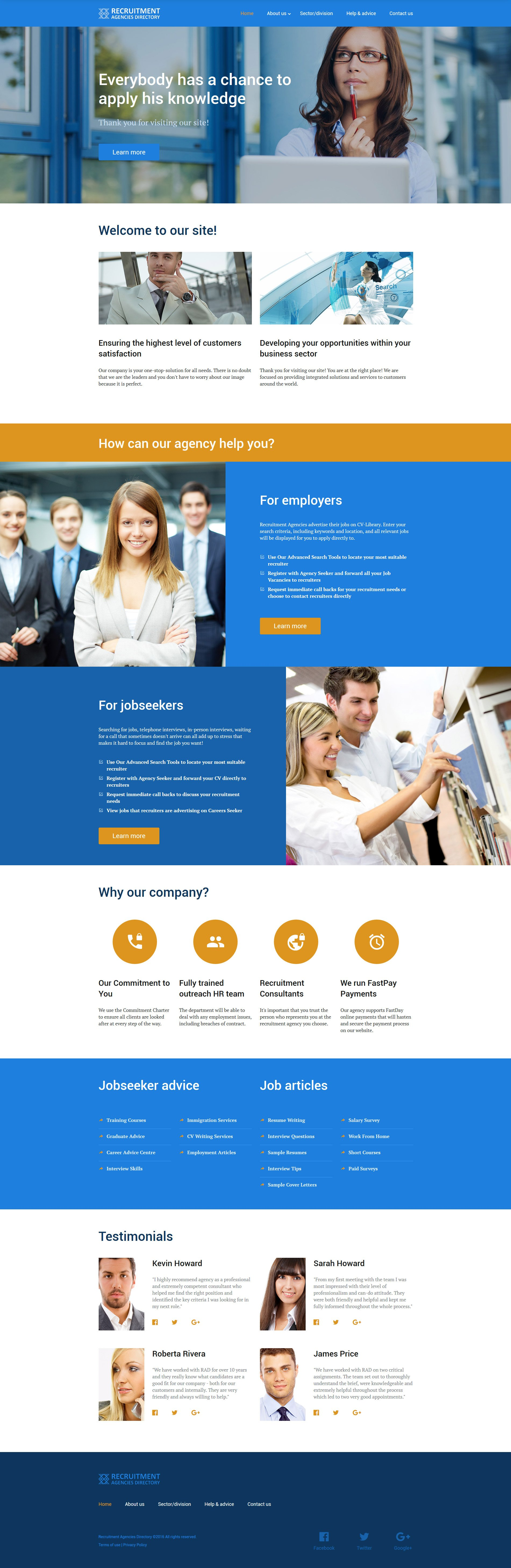 employment website template. Black Bedroom Furniture Sets. Home Design Ideas