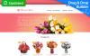 Responsive MotoCMS E-Commerce Vorlage für Blumengeschäft  New Screenshots BIG