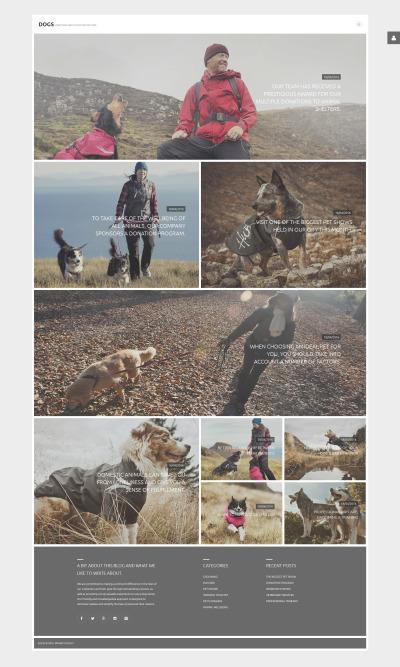 Responsywny szablon Joomla #58810 na temat: psy