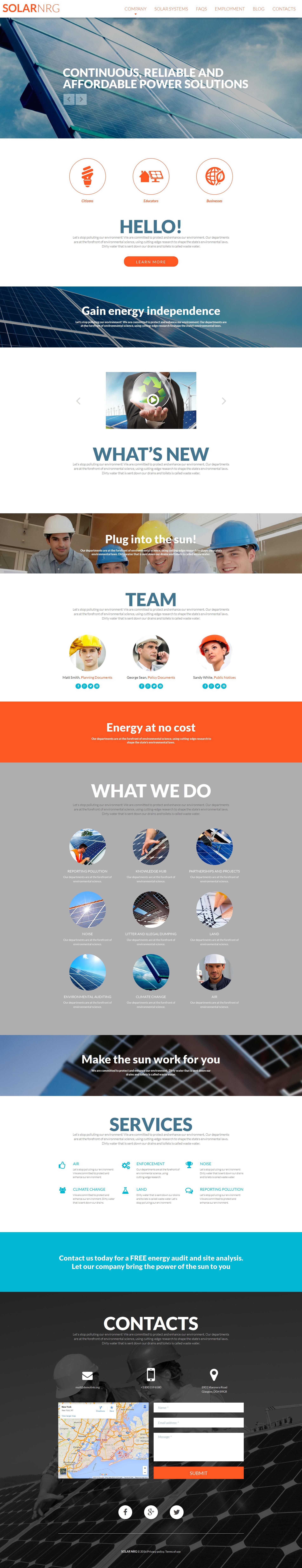 Responsywny szablon Moto CMS 3 #58800 na temat: energia słoneczna - zrzut ekranu