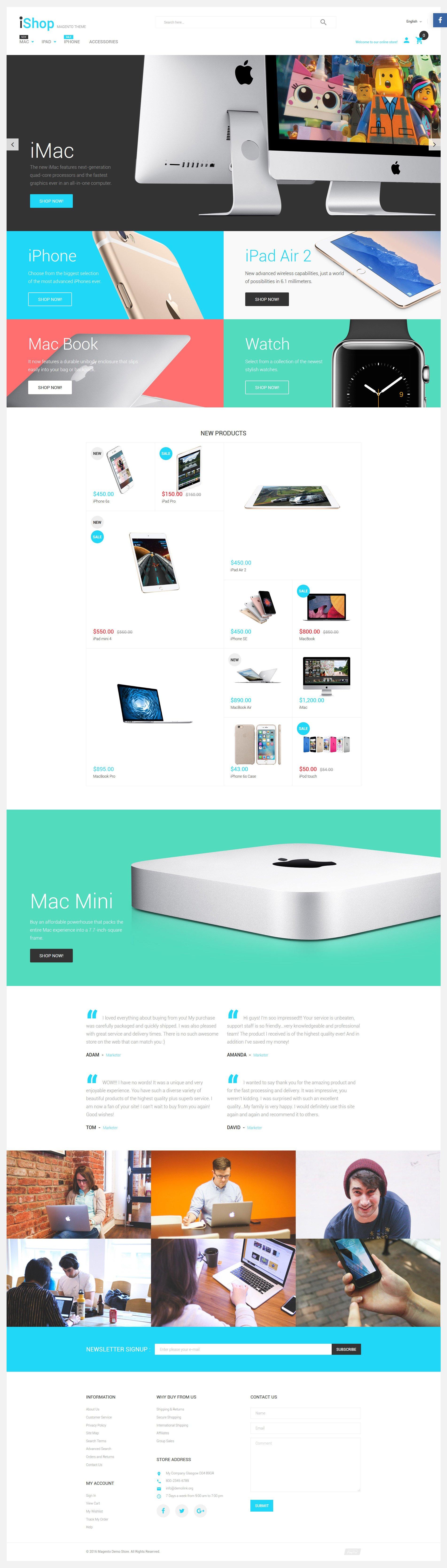 """Responzivní Magento motiv """"iShop - Electronic Devices"""" #58834"""