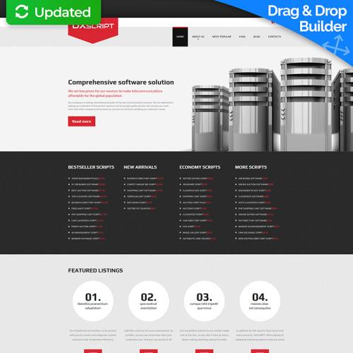 Dxscript - MotoCMS 3 Template based on Bootstrap