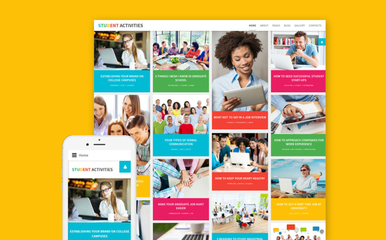 Student Activities Joomla Template New Screenshots BIG