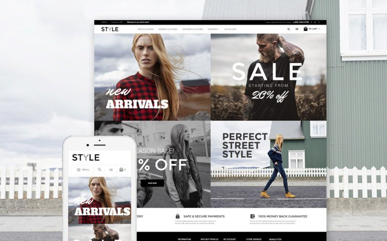 Style - Fashion Clothes Magento Theme New Screenshots BIG