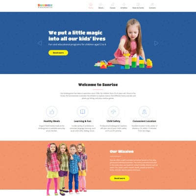 28 Best Kids Children Website Templates
