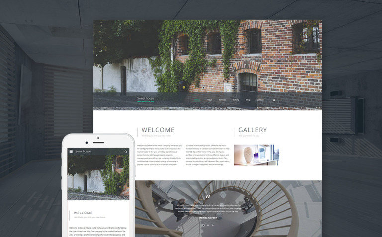 Sweet House Website Template New Screenshots BIG