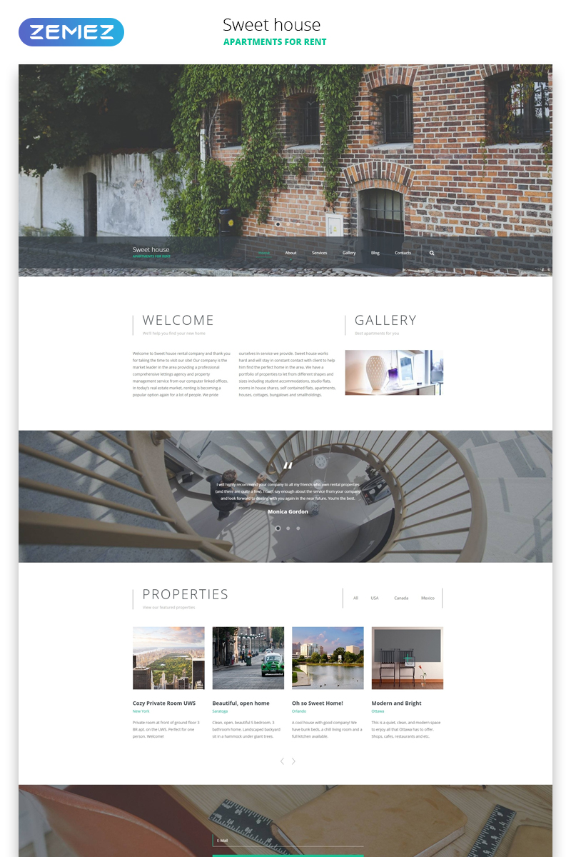 Sweet House Website Template - screenshot